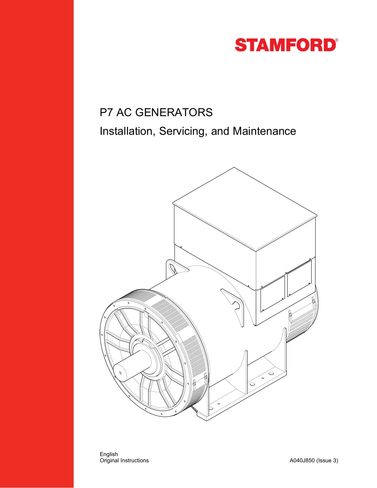 P7 Ac Generators Installation Servicing And Maintenance