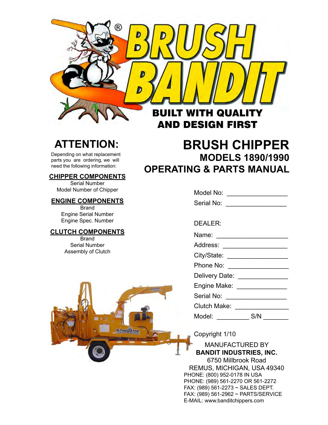 brush chipper stephenson equipment manualzz com rh manualzz com Brush  Bandit 250Xp Wood Chipper