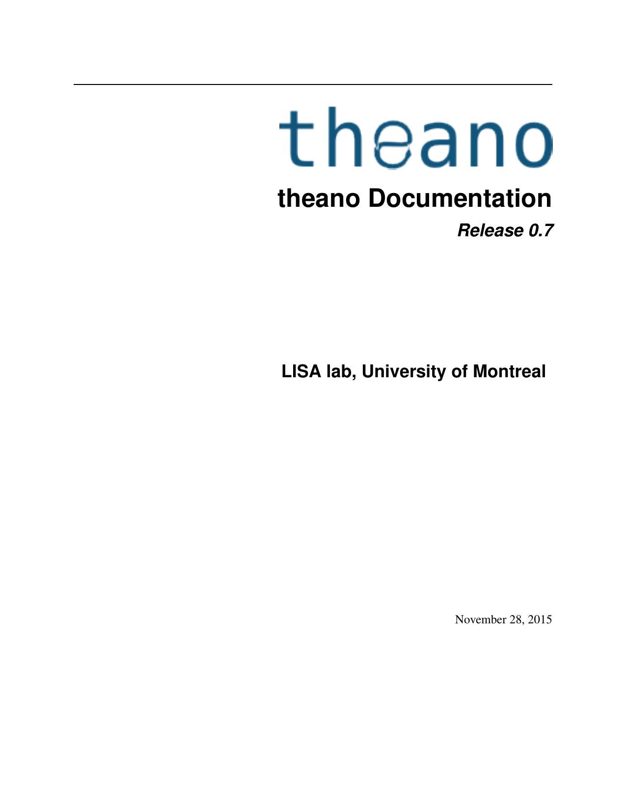 theano Documentation | manualzz com