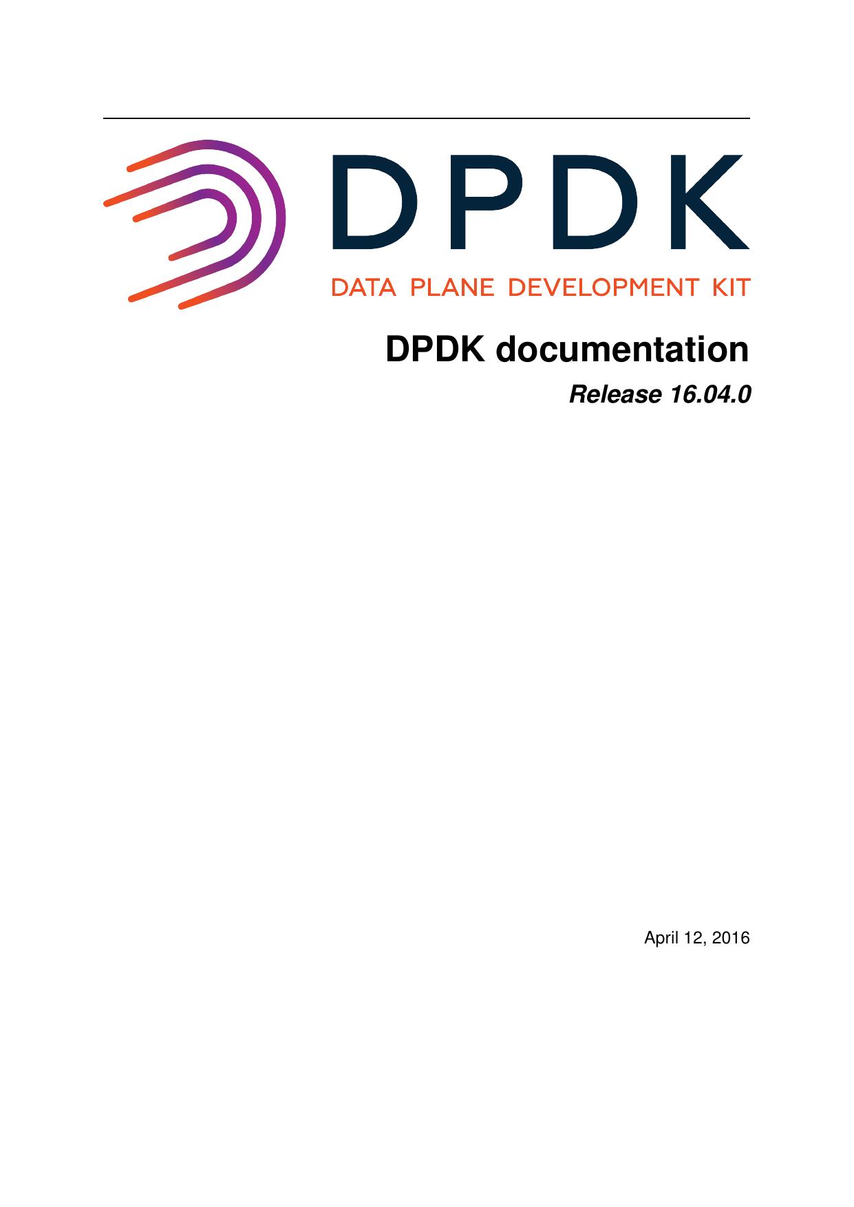 DPDK documentation | manualzz com
