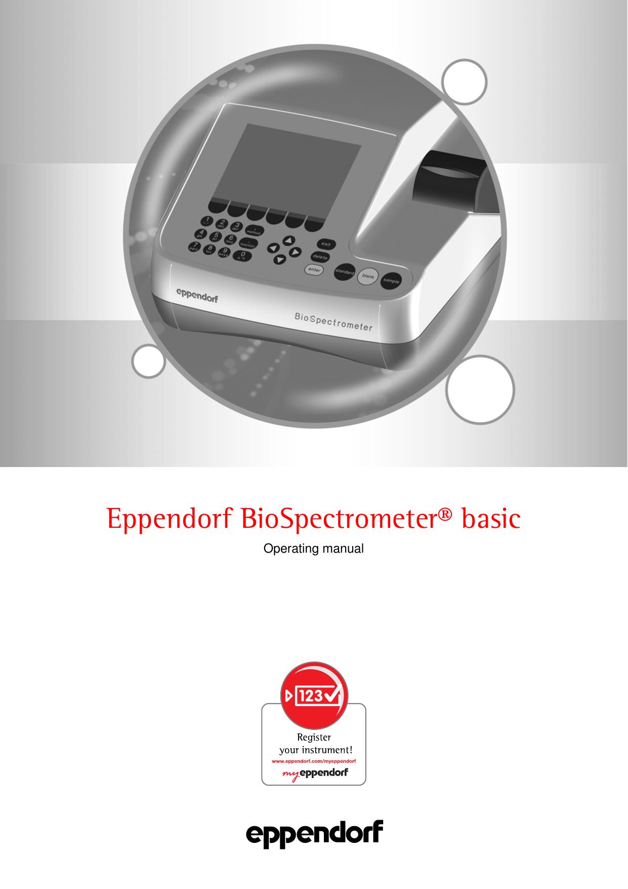 Eppendorf 6135928001 BioSpectrometer Reference Filter Set Eppendorf North America
