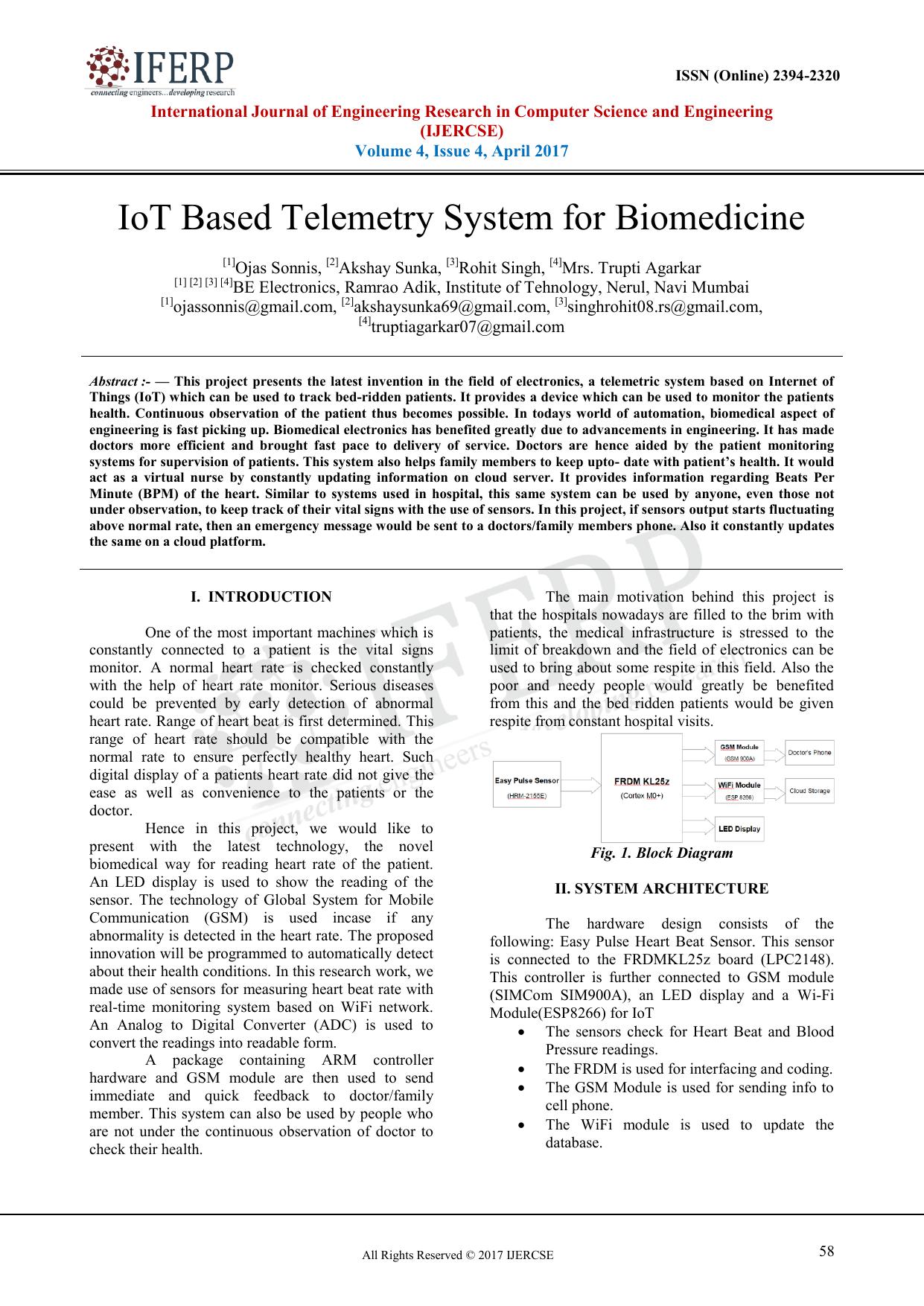 IoT Based Telemetry System for Biomedicine   manualzz com