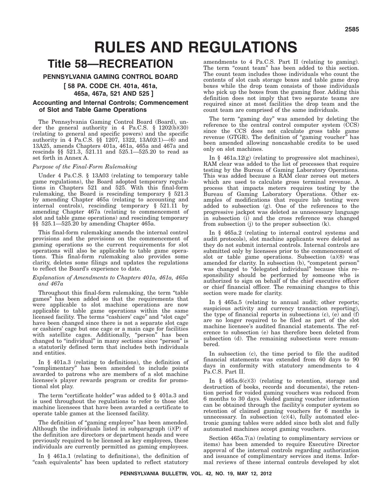 Pa Bulletin - Pennsylvania Bulletin Online