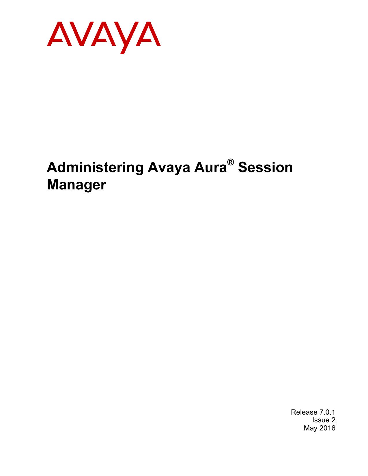 Administering Avaya Aura® Session Manager | manualzz com