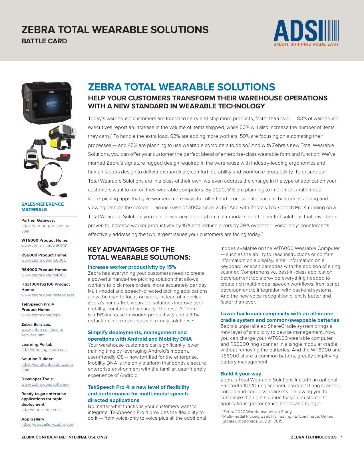 zebra total wearable solutions zebra total wearable