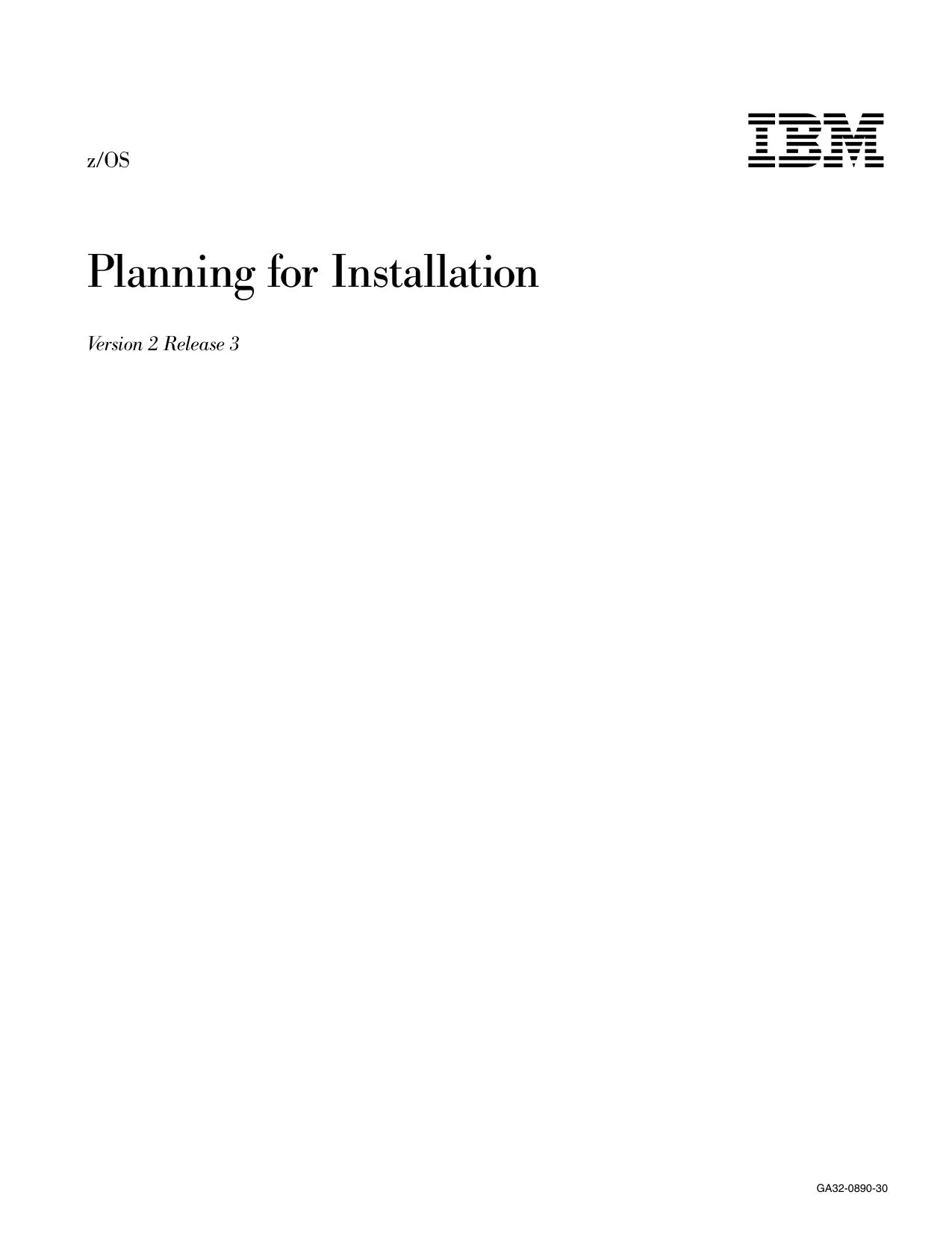 z/OS Planning for Installation | manualzz com