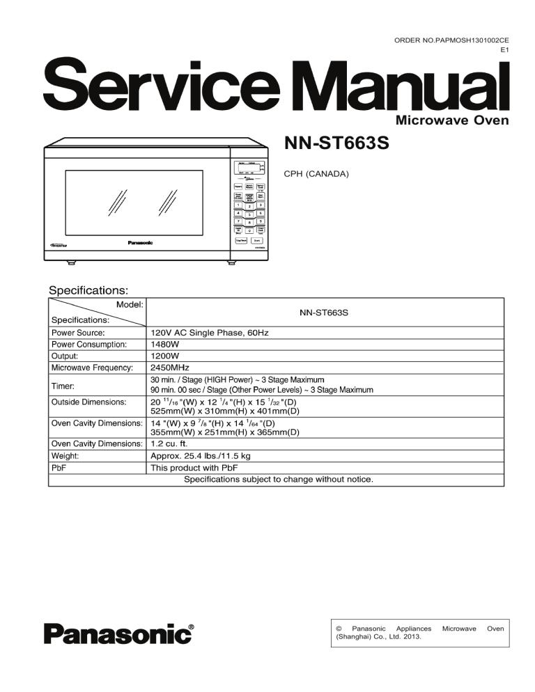 nn st663s panasonic manualzz