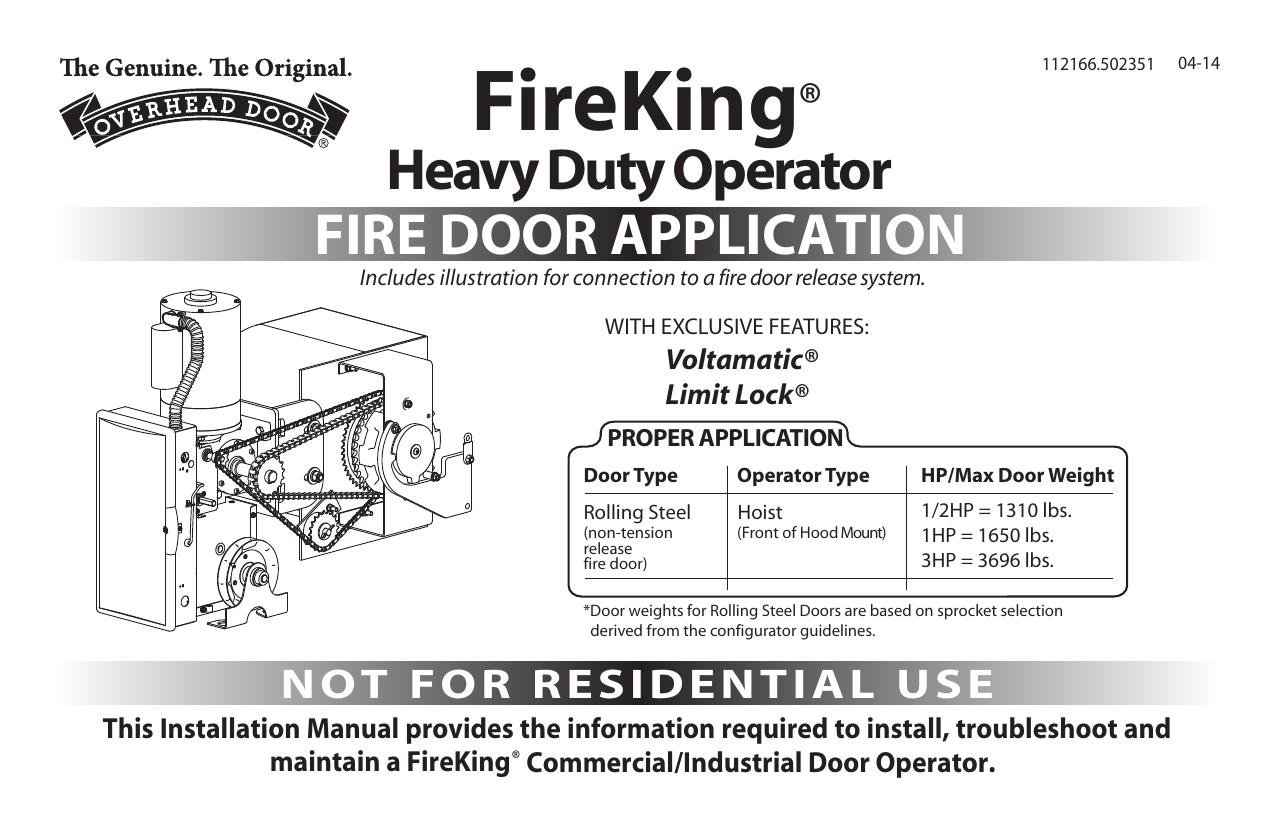 Overhead Door Commercial Operator Wiring Diagram