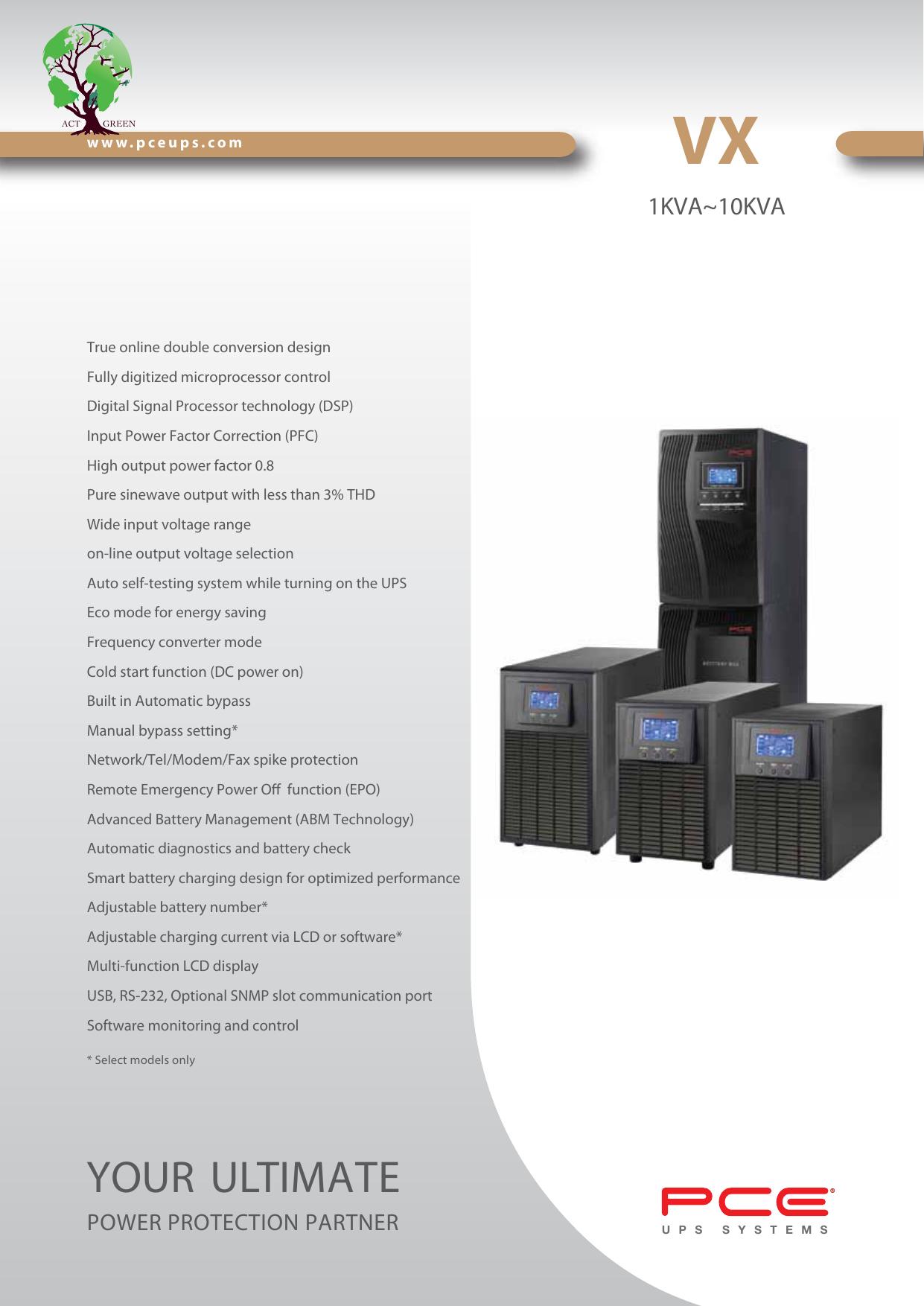 VX - PCE UPS Systems | manualzz com