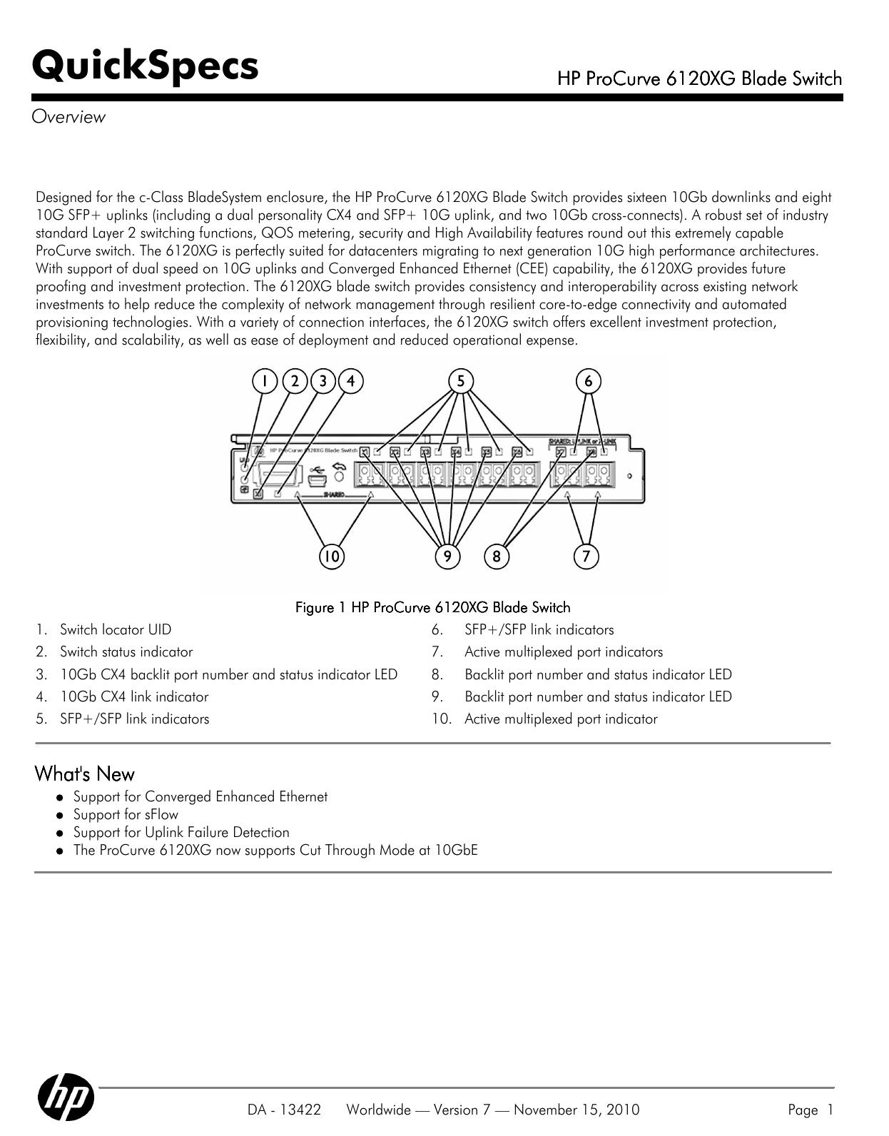 HP ProCurve 6120XG Blade Switch | manualzz com