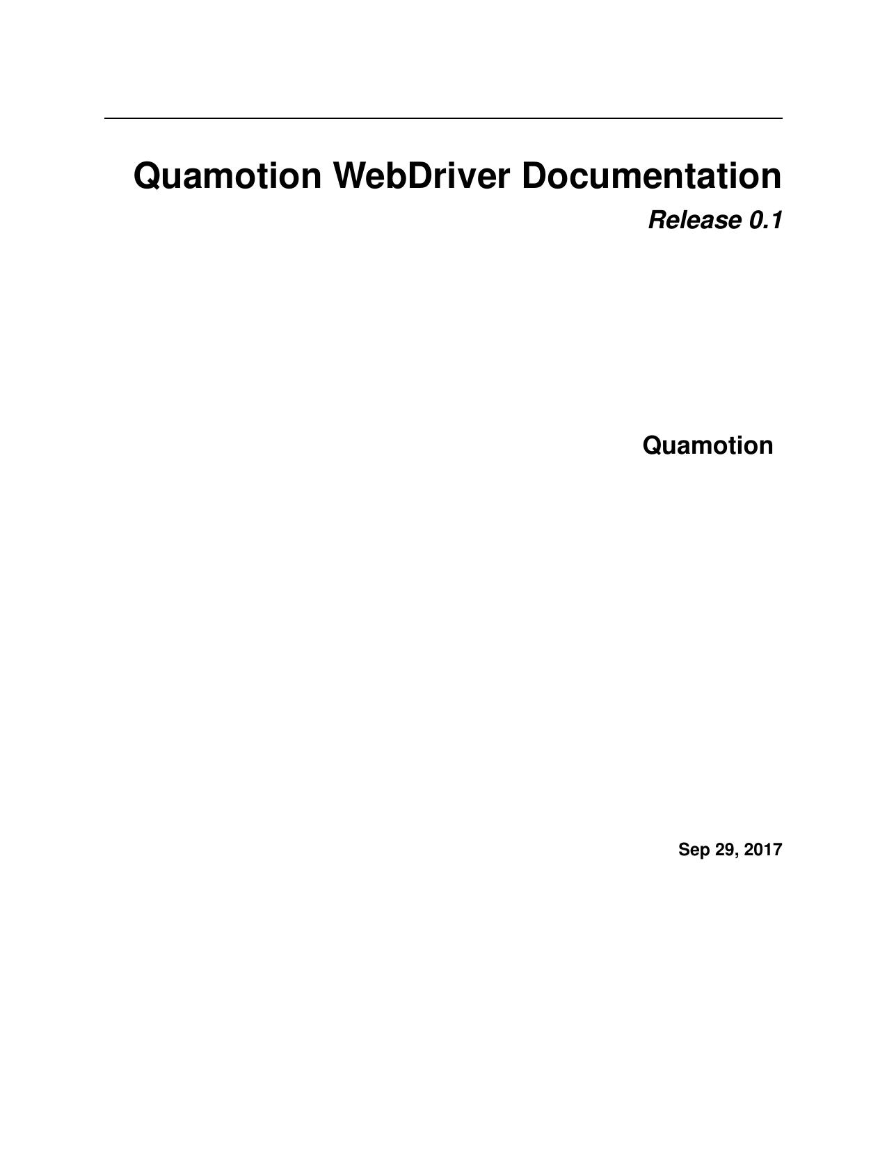 Quamotion WebDriver Documentation | manualzz com