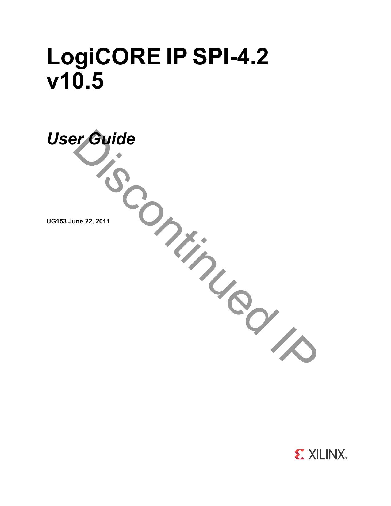 Xilinx UG153 LogiCORE IP SPI | manualzz com