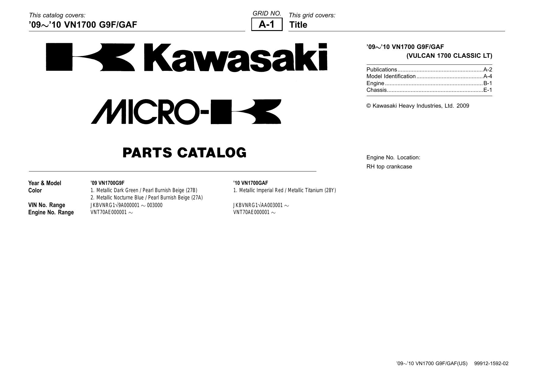 Fairings & Panels VULCAN 1500 1600 1700 New Genuine Kawasaki ...