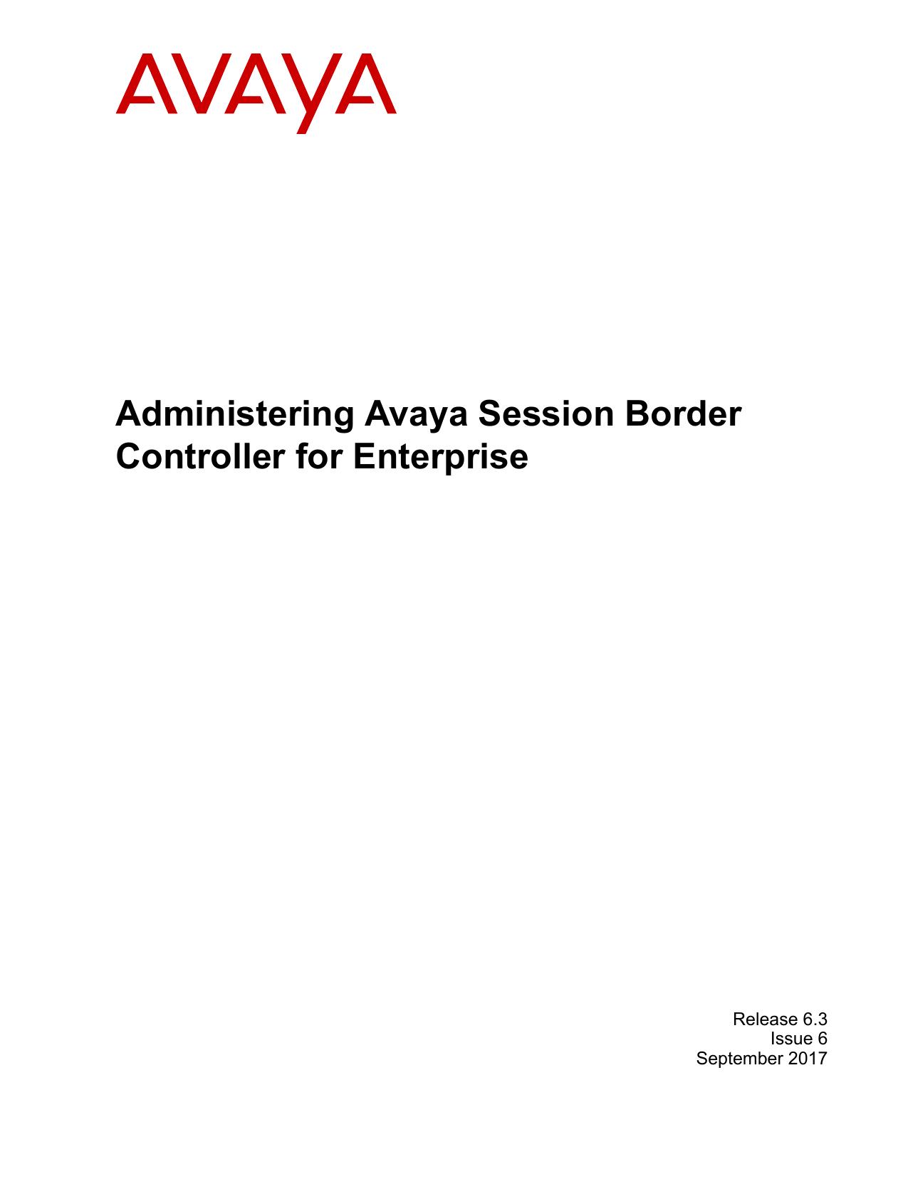 Administering Avaya Session Border Controller for | manualzz com