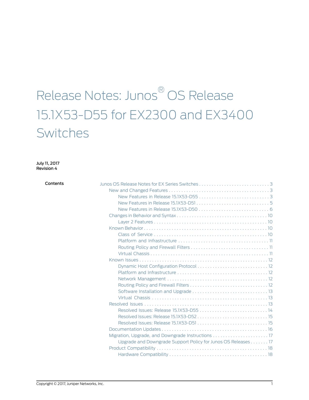 Release Notes: Junos® OS Release 15 1X53 | manualzz com