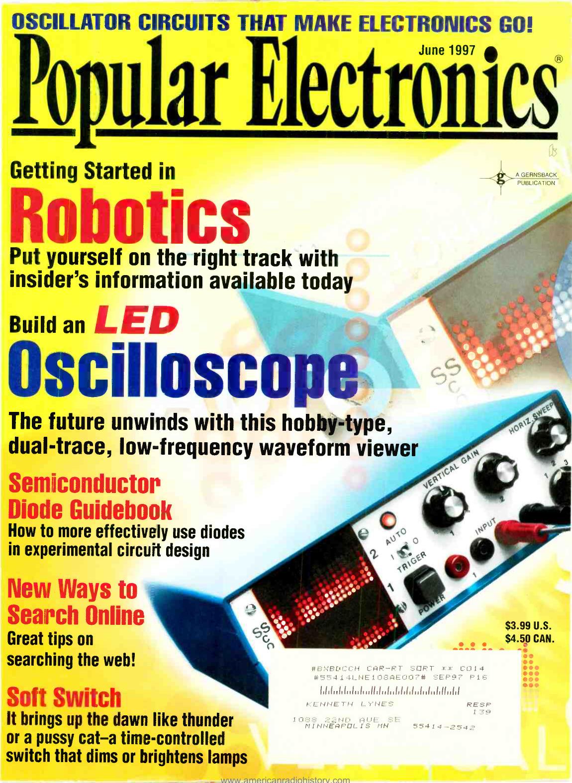 Oscilloscope American Radio History Source Http Wwwelectronicscircuitscom Cirdir Data Printerport