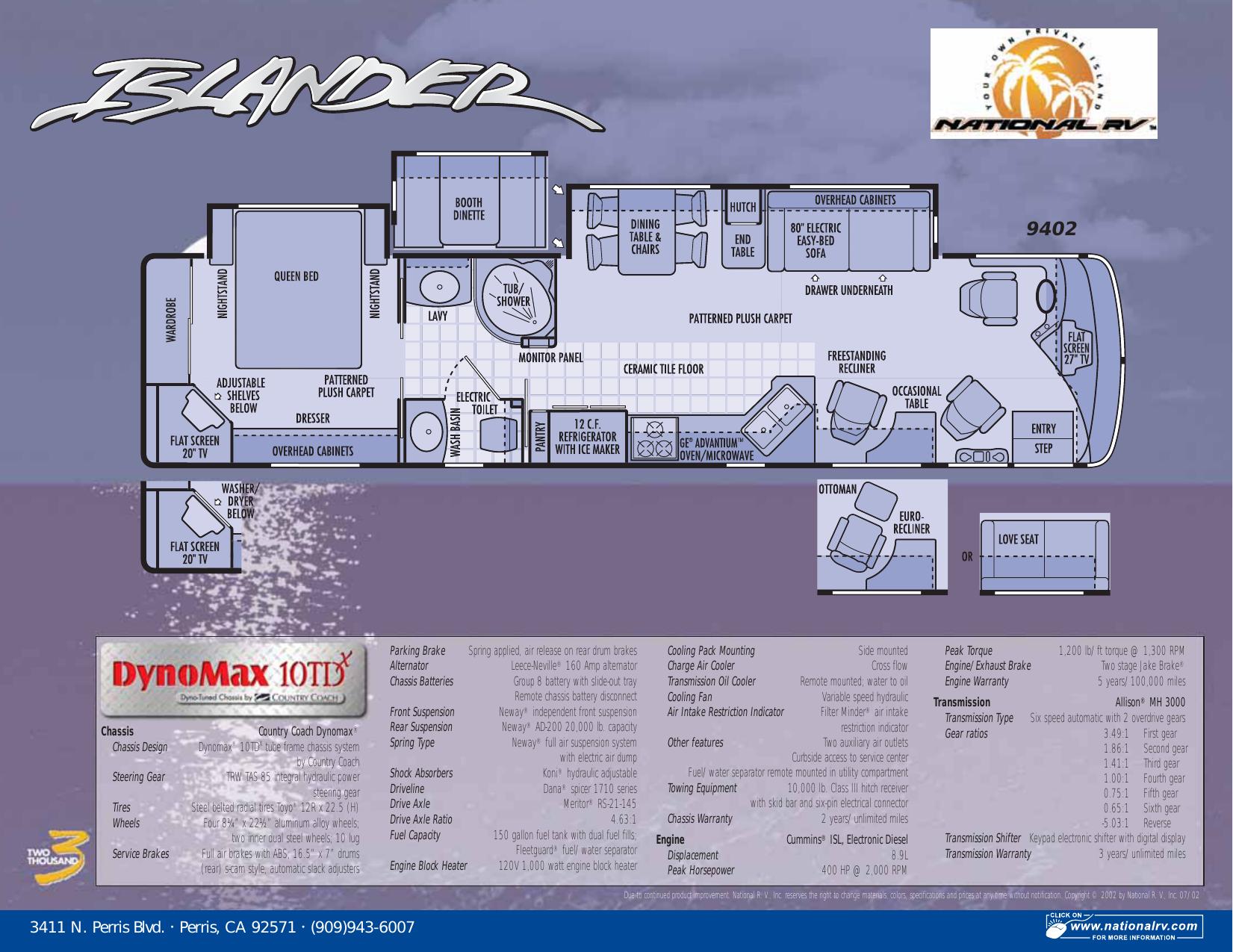 2003 national rv islander specs brochure | manualzz  manualzz