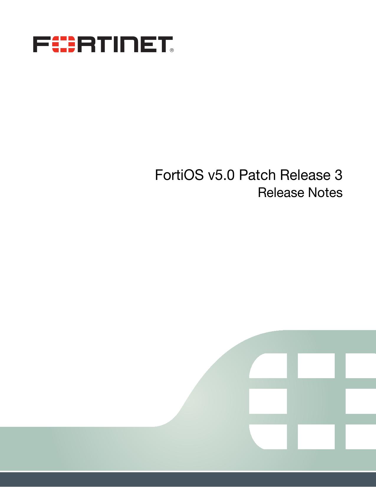 FortiOS v5 0 Patch Release 3 Release Notes | manualzz com