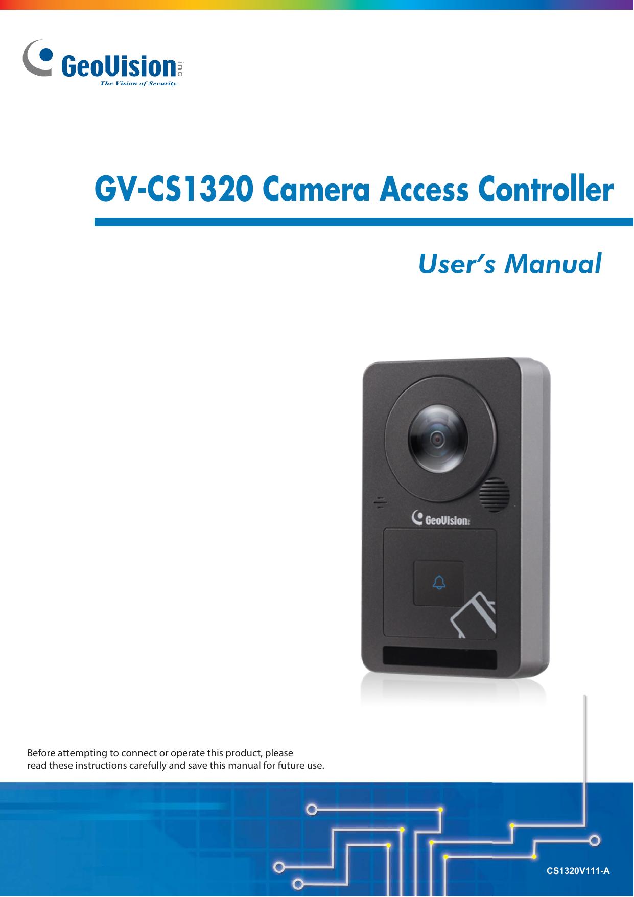 GV-CS1320 Camera Access Controller   manualzz com
