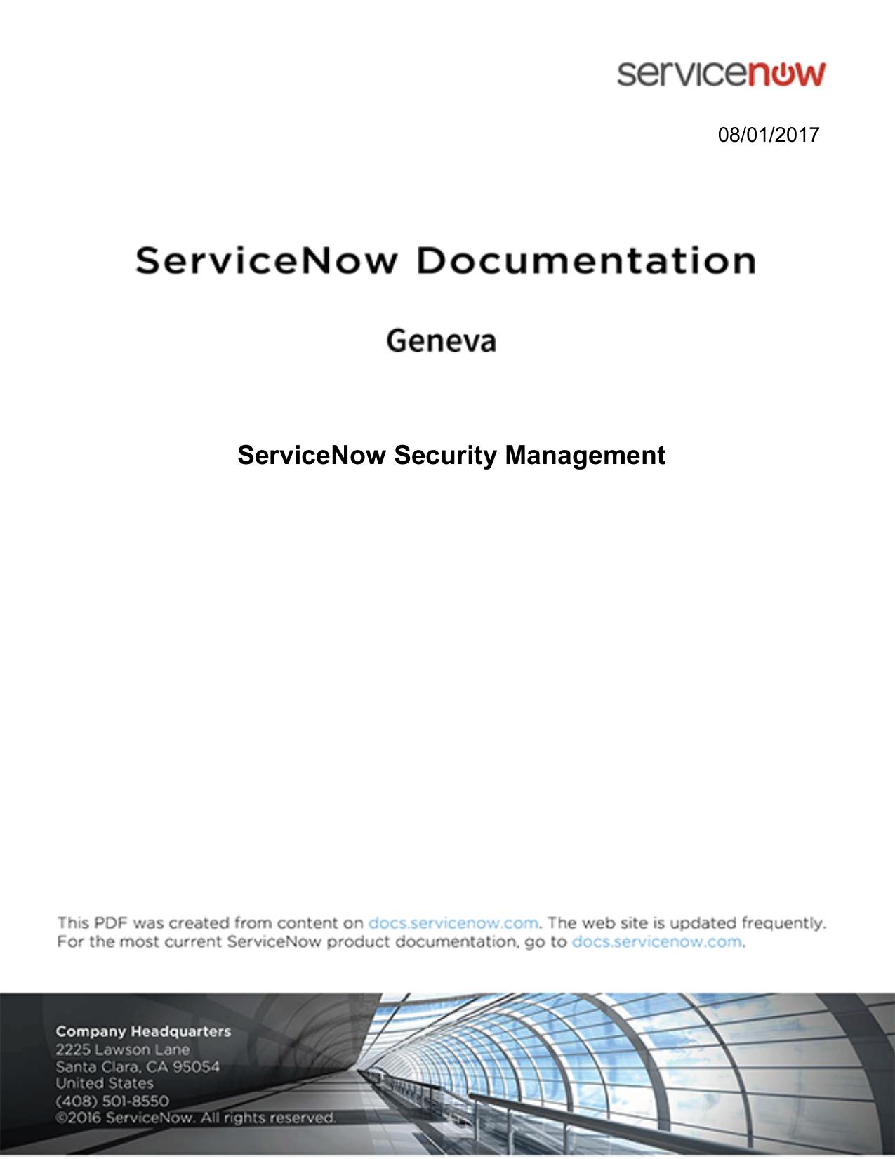ServiceNow Security Management | manualzz com