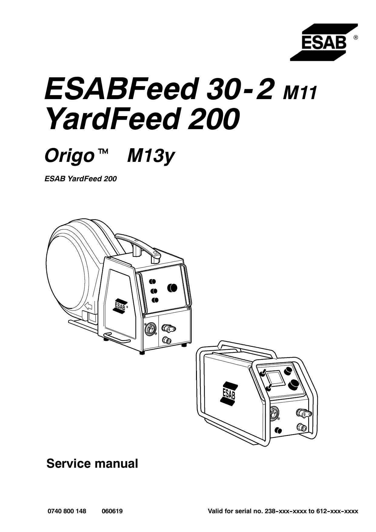ESABFeed 30- 2 M11 YardFeed 200 | manualzz.com on