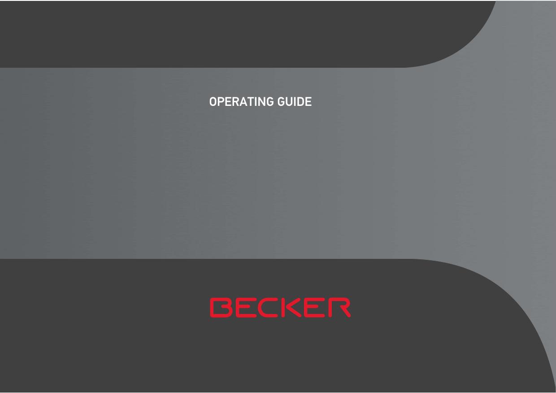 operating guide - BECKER Navigation | manualzz com