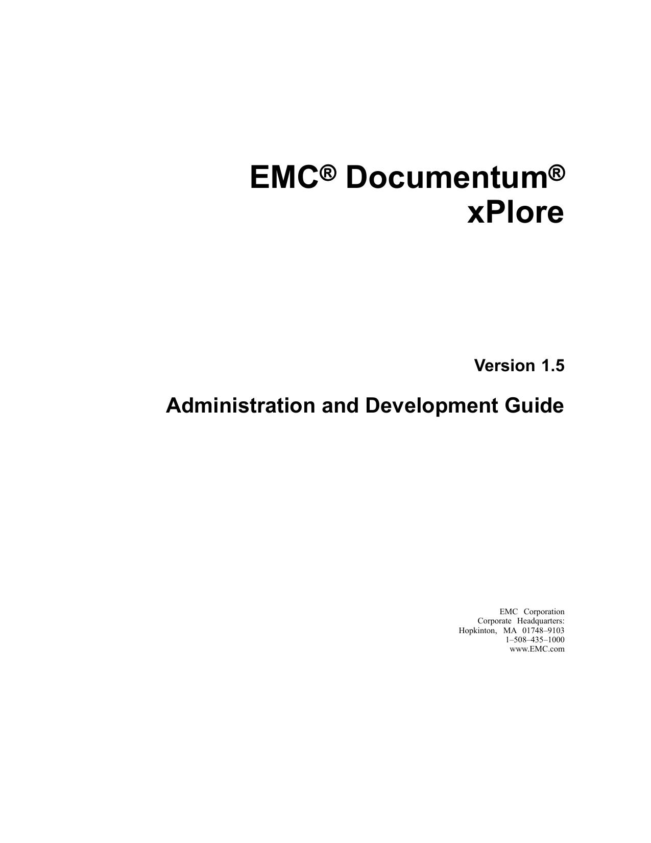 EMC® Documentum® xPlore | manualzz com