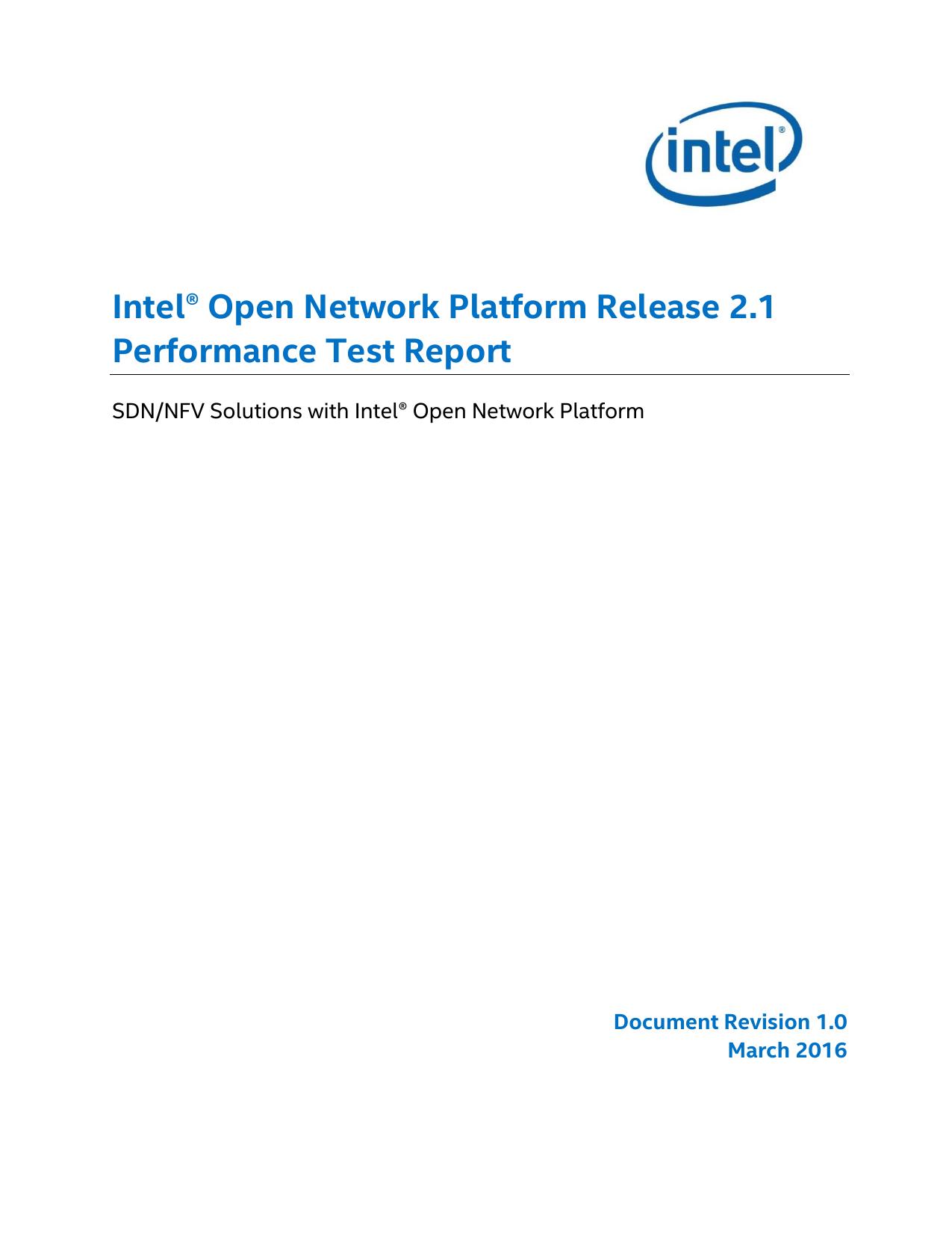 Intel® Open Network Platform Release 2 1 Performance - 01-logo