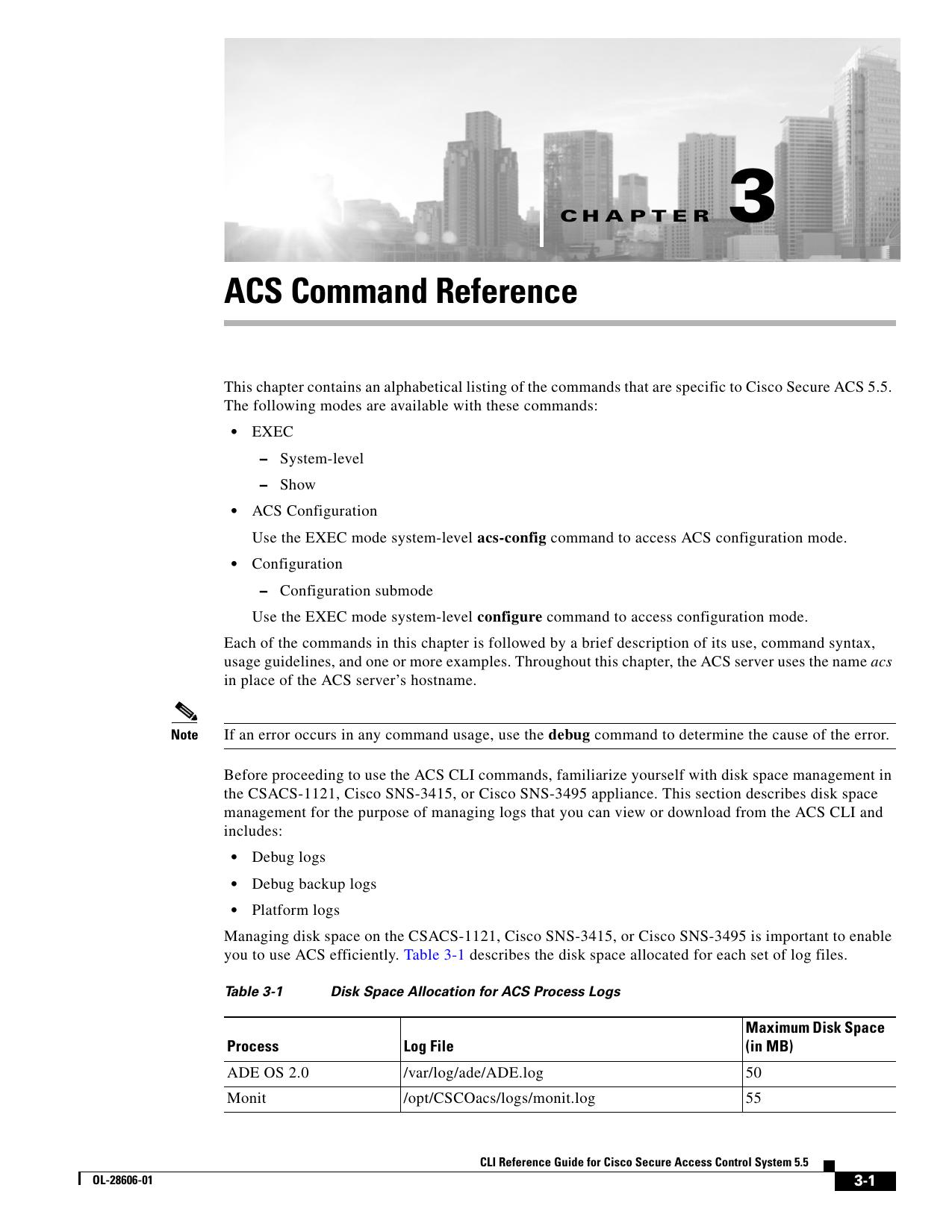 ACS Command Reference | manualzz com