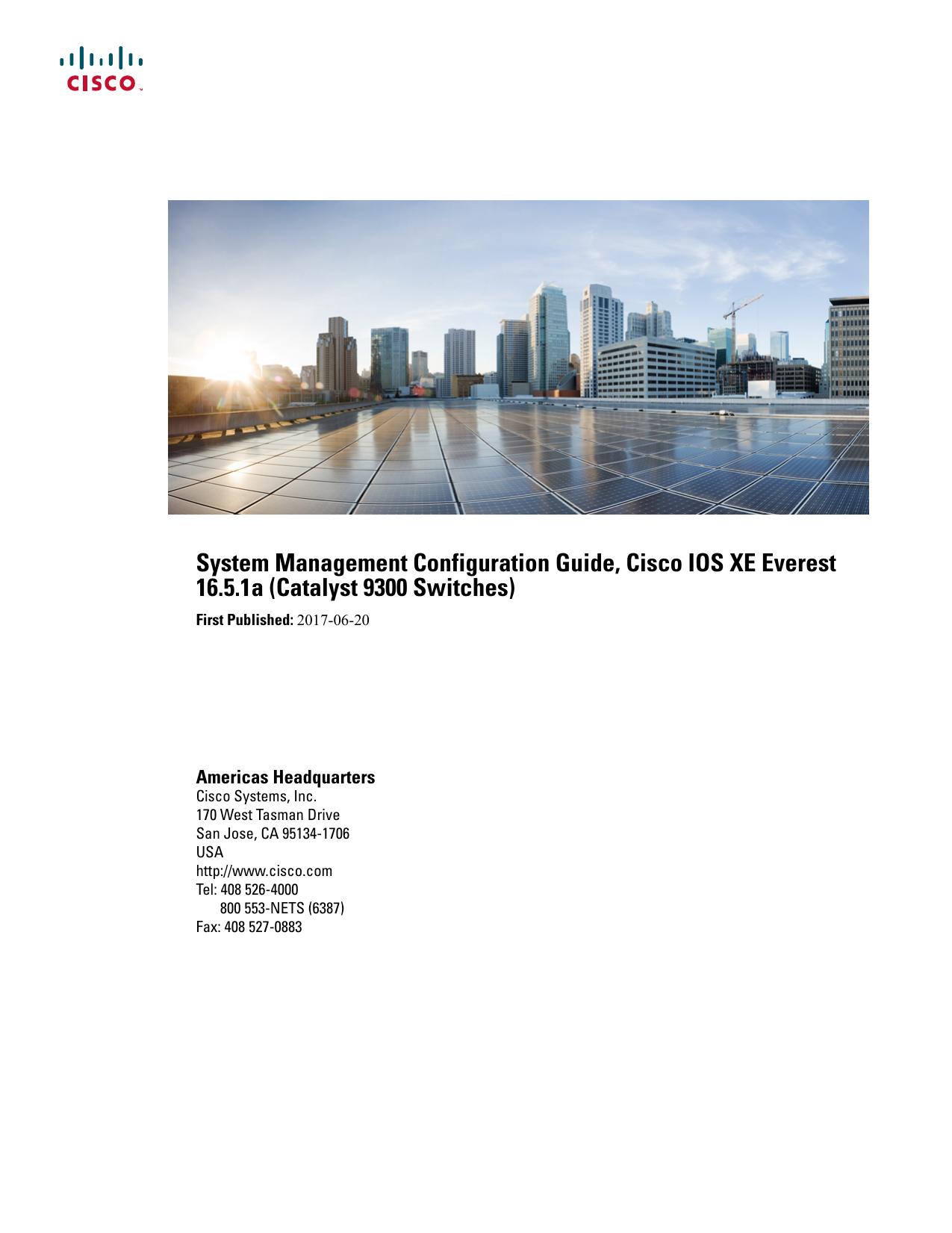 System Management Configuration Guide, Cisco IOS XE Everest