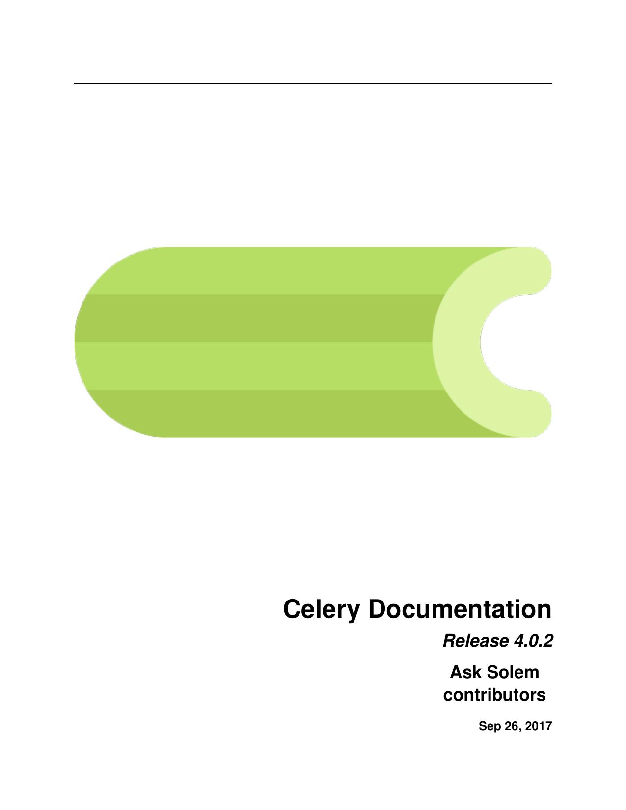 Celery Documentation | manualzz com