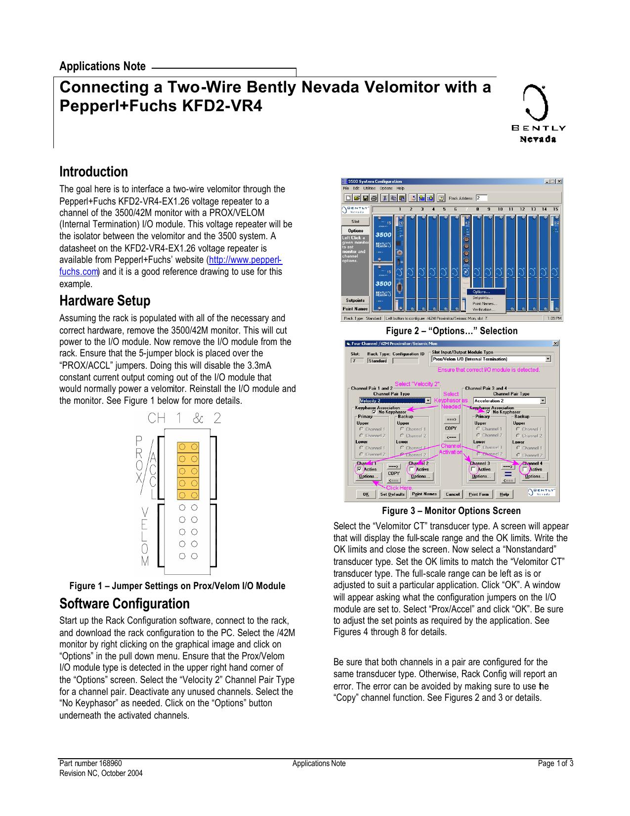 [QMVU_8575]  Connecting a Two-Wire Bently Nevada Velomitor | Manualzz | Bently Nevada Wiring Diagram |  | manualzz