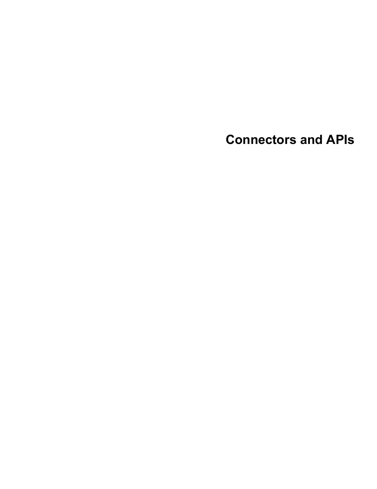 Connectors and APIs - Downloads | manualzz com