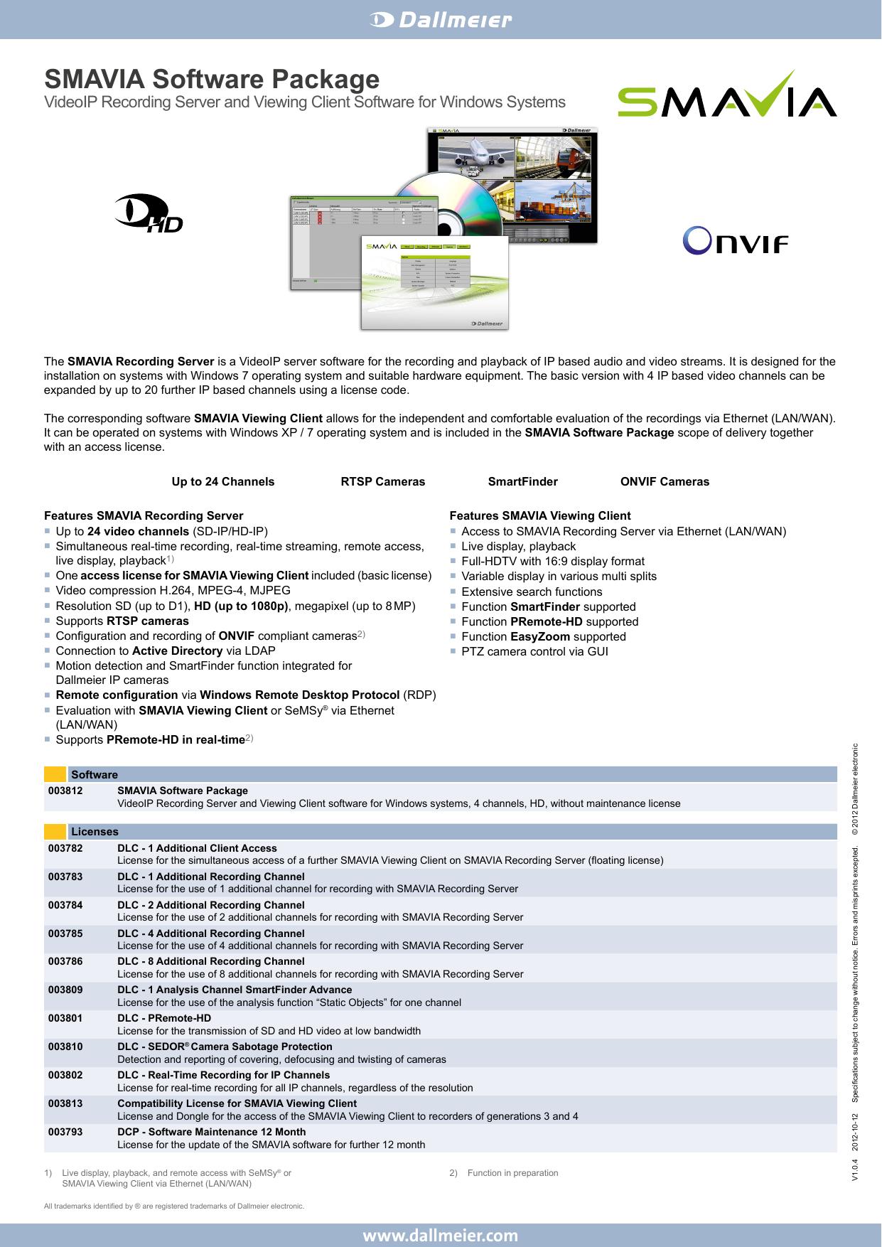 SMAVIA Software Package | manualzz com