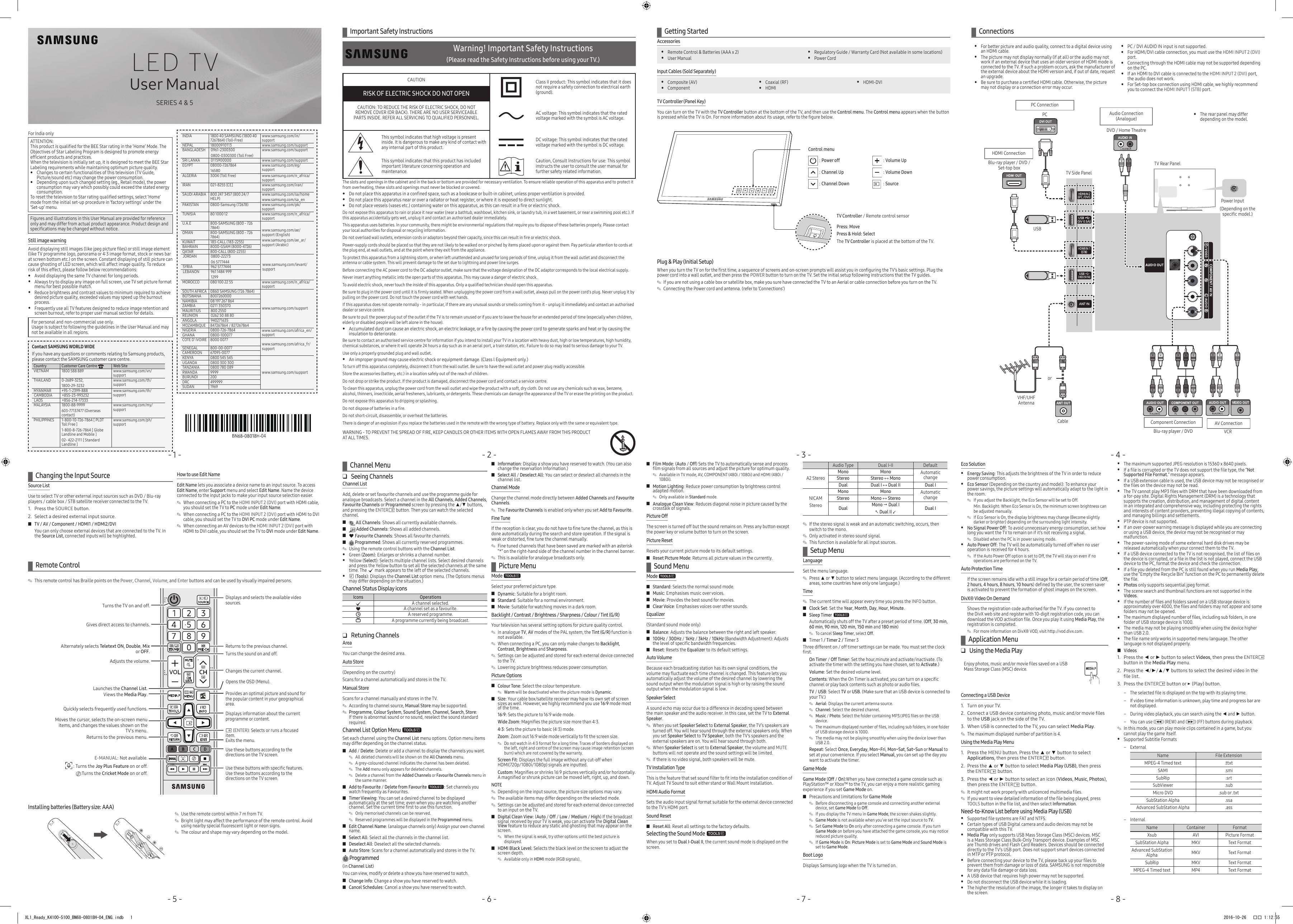 Samsung UA32K4000AR User manual | manualzz com