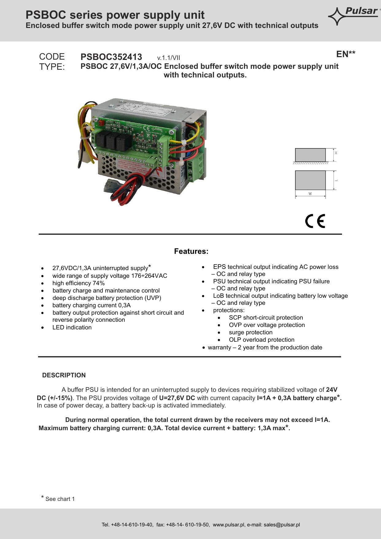 PSBOC series power supply unit | manualzz com
