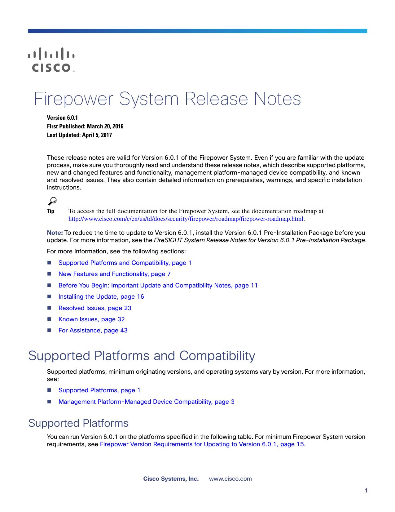 Firepower System Release Notes, Version 6 0 1 | manualzz com
