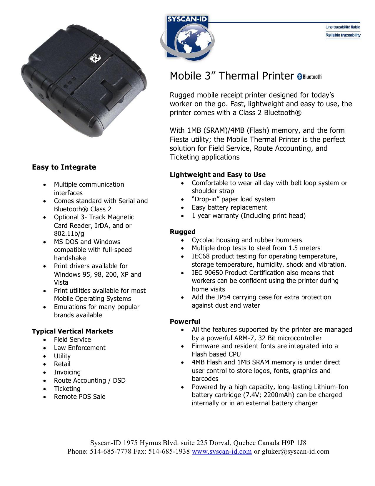 LATS Thermal Printer | manualzz com
