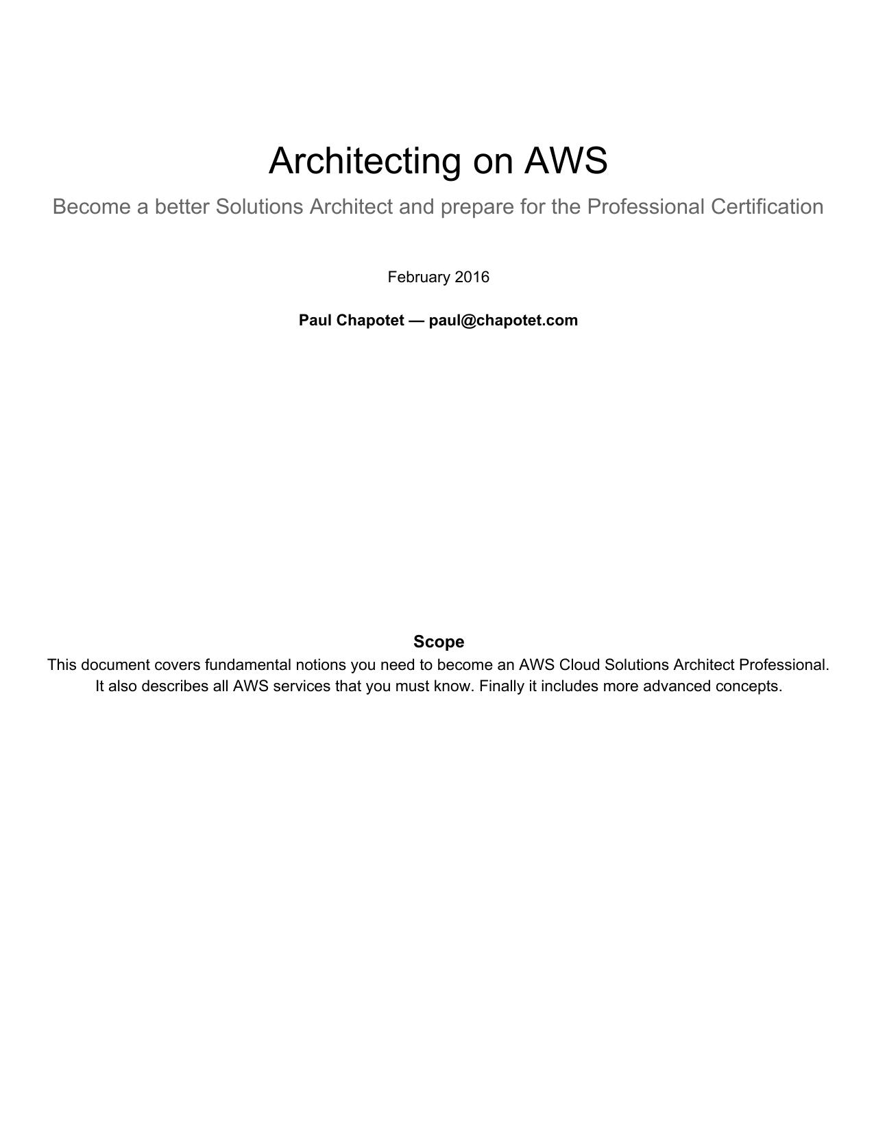 Architecting on AWS - Blog | manualzz com