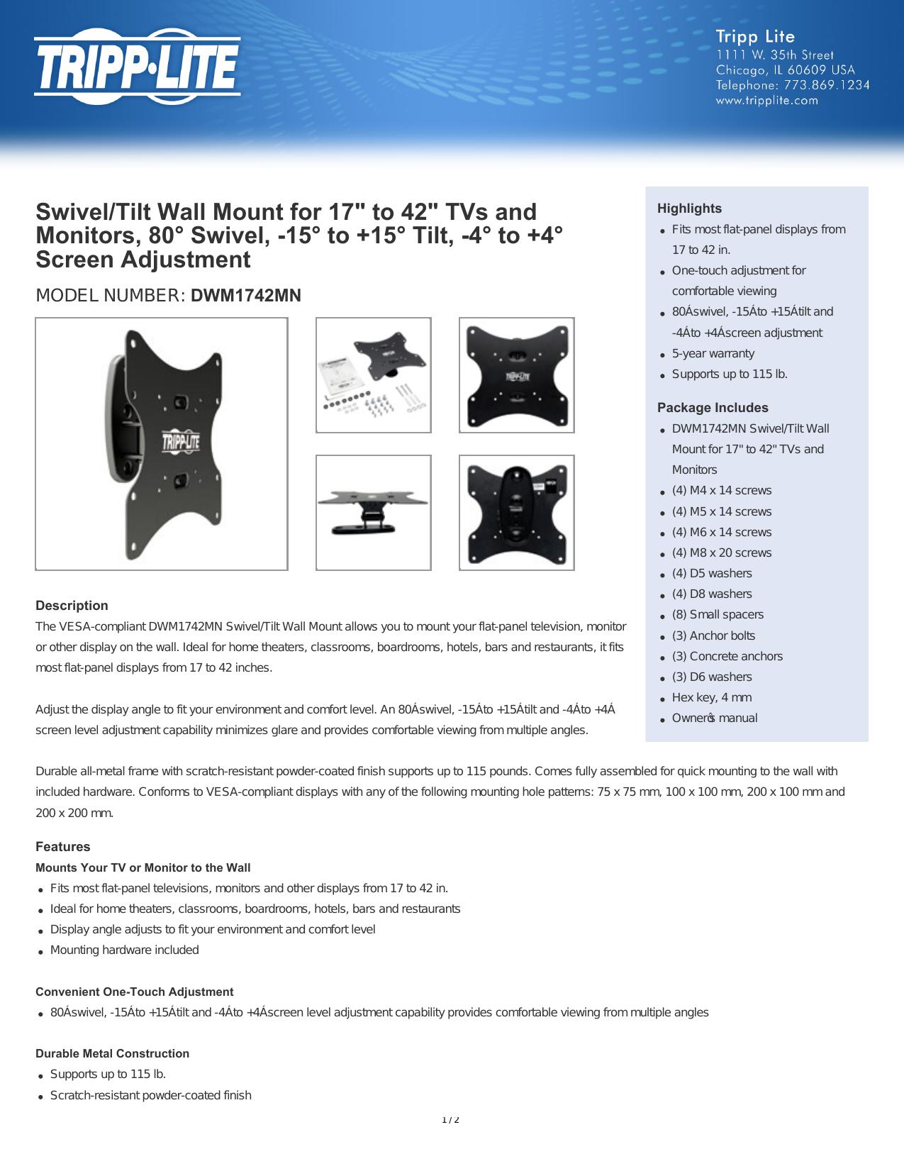 DWM1742MN - Tripp Lite   manualzz com