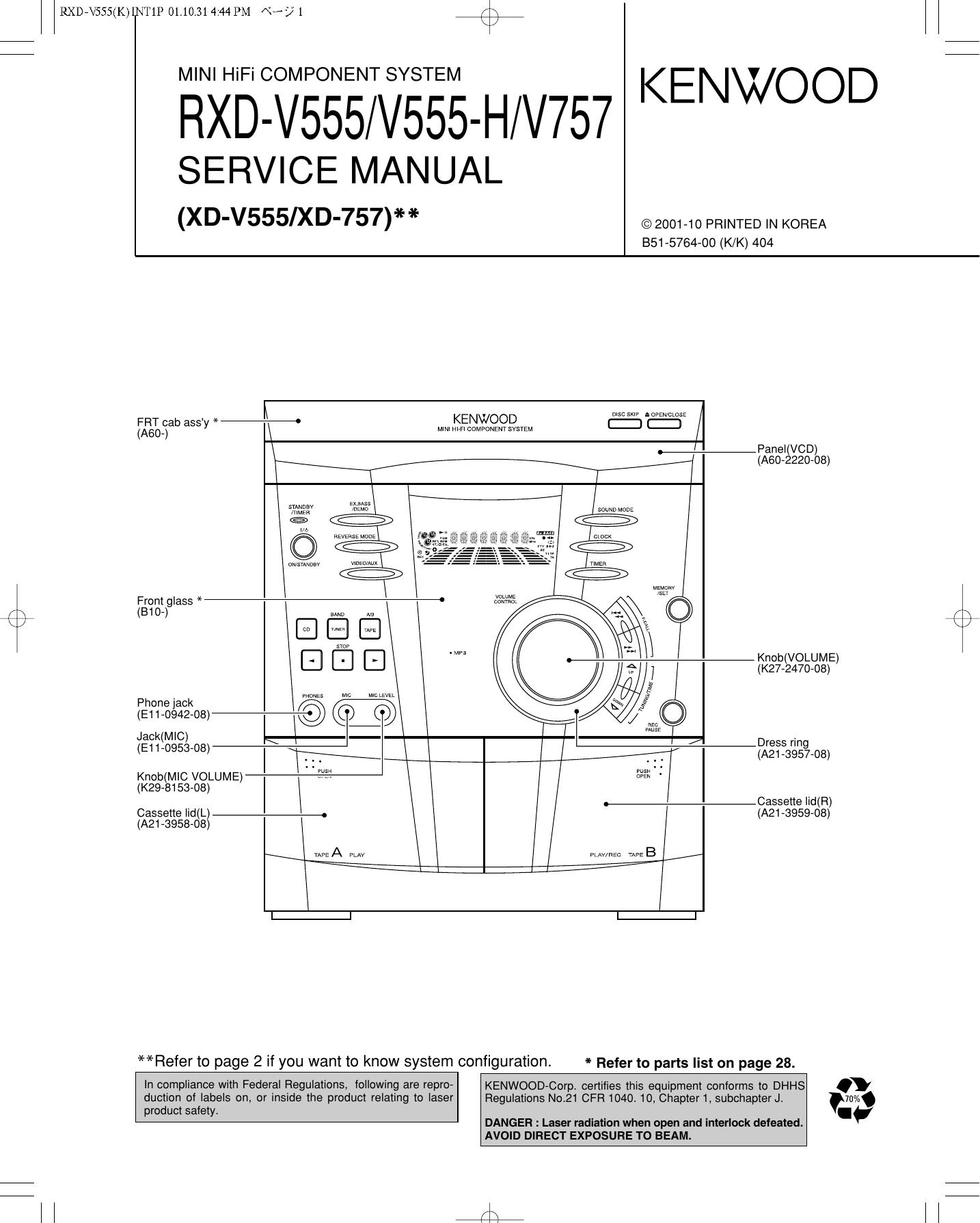 RXD-V555/V555-H/V757   manualzz.com on