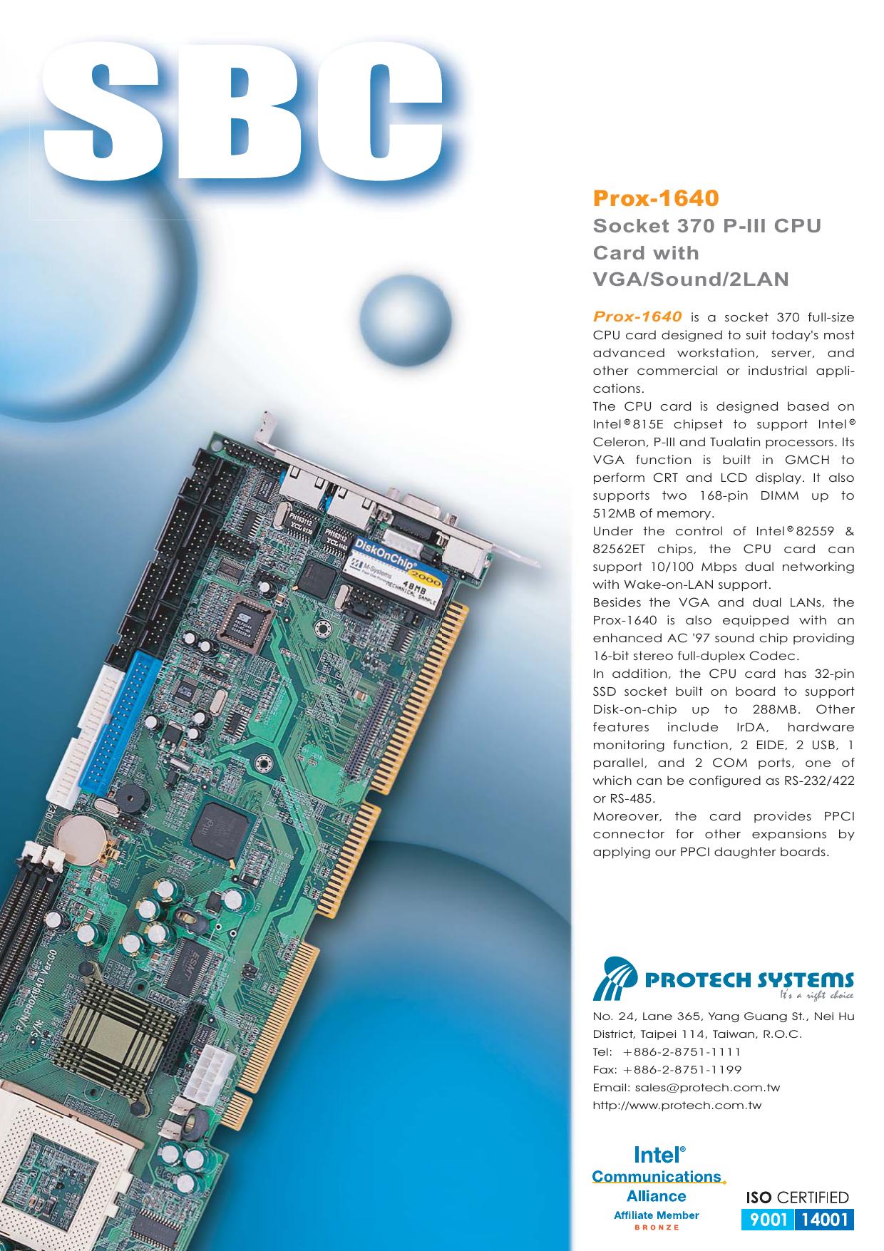 PROTECH PSB-1640 VGA 64BIT DRIVER