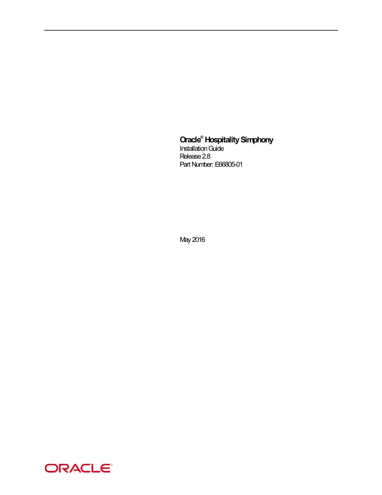 Oracle® Hospitality Simphony | manualzz com