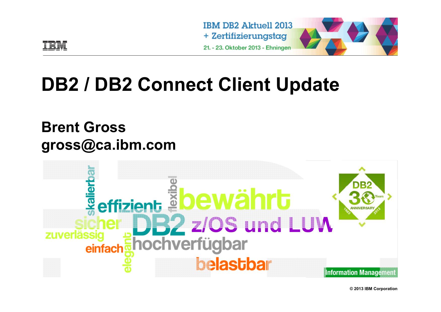 Db2 Client Connect