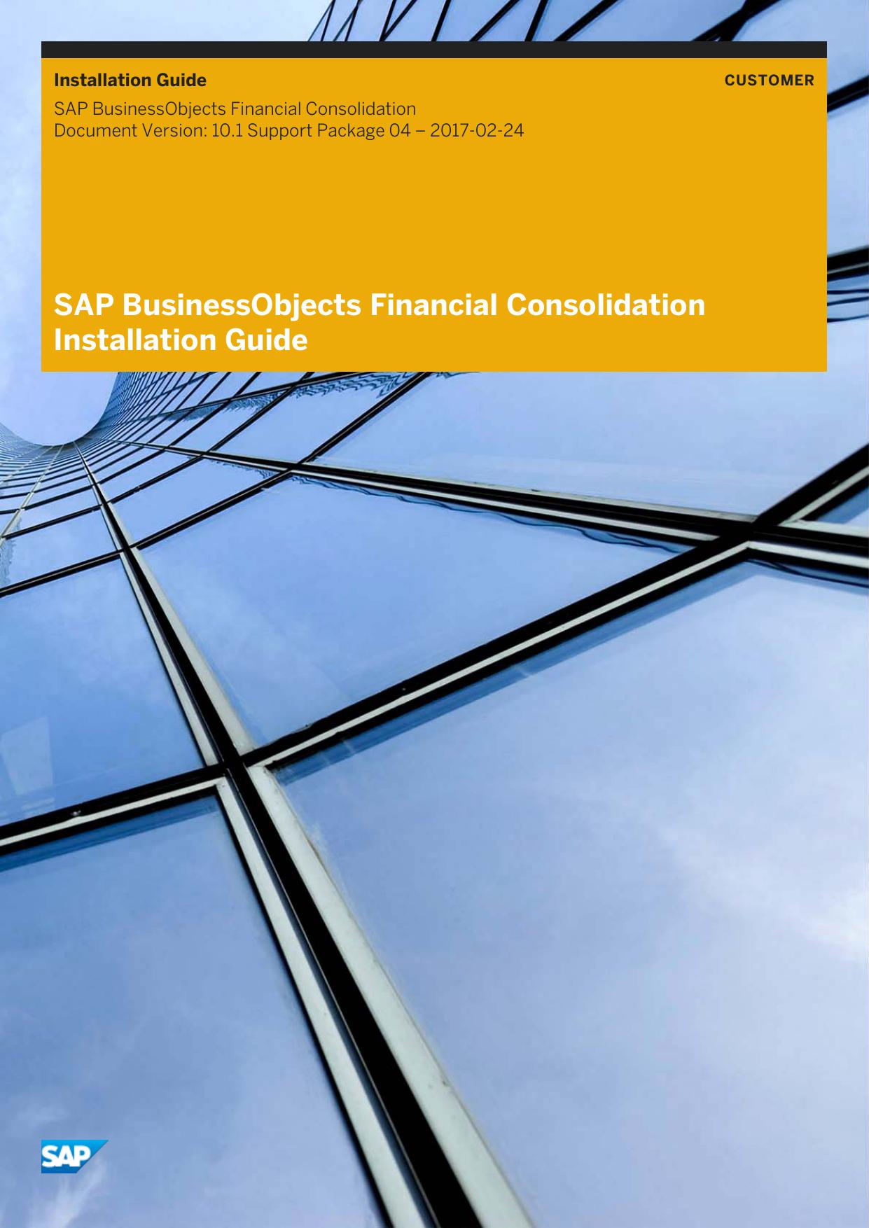 SAP BusinessObjects Financial Consolidation | manualzz com