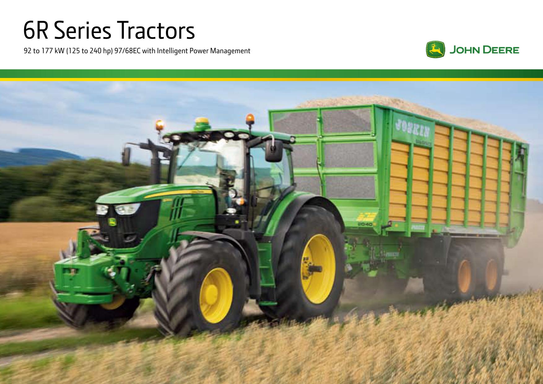John Deere 6170R 6190R 6210R Tractor Brochure