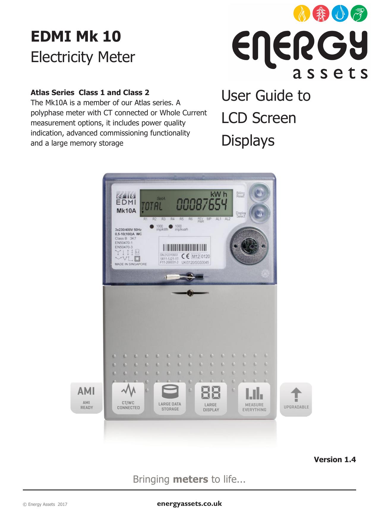 Test Meters & Detectors EDMI Electricity ATLAS Meter Mk10D 10 415 ...