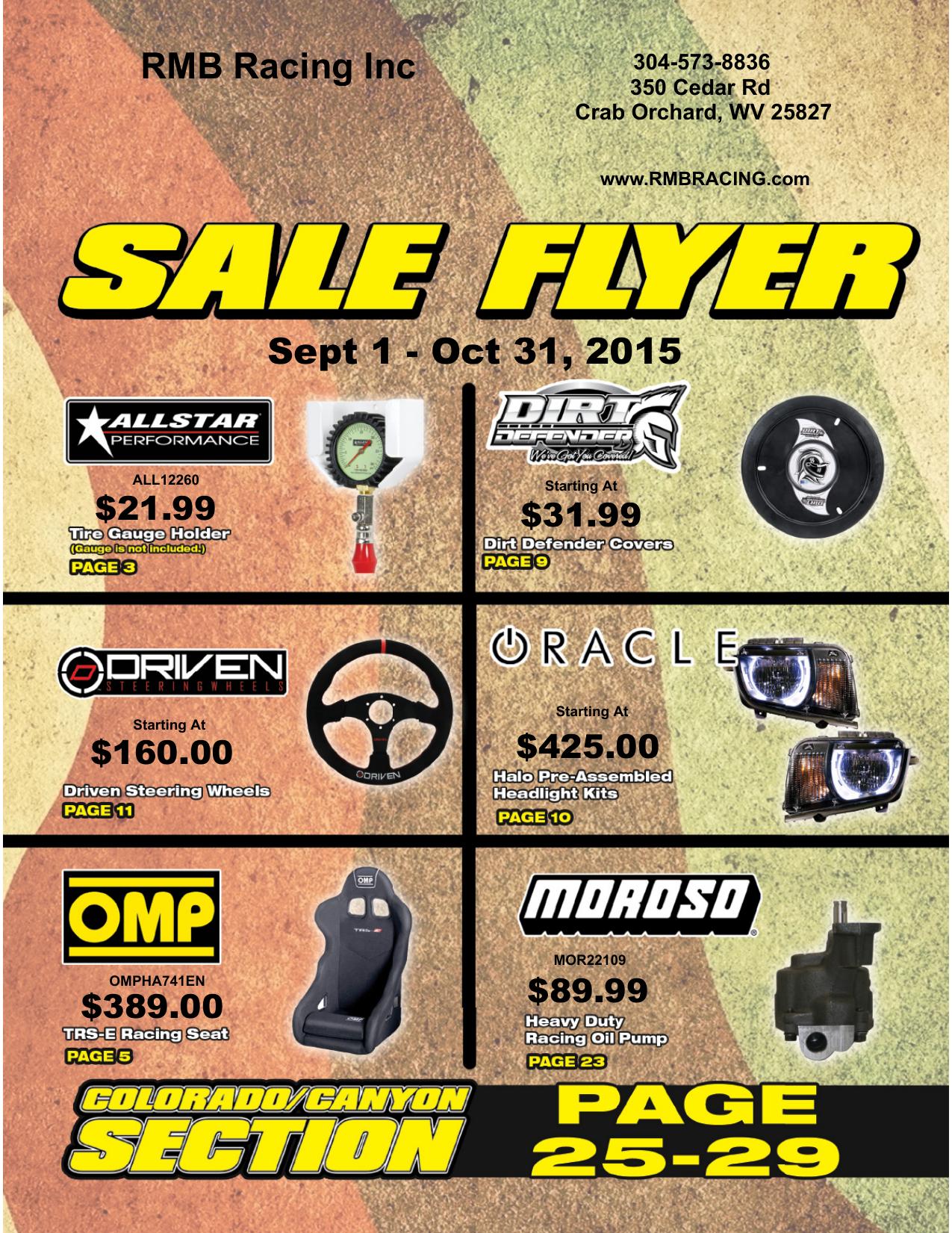RMB Racing Inc Sept 1 | manualzz com