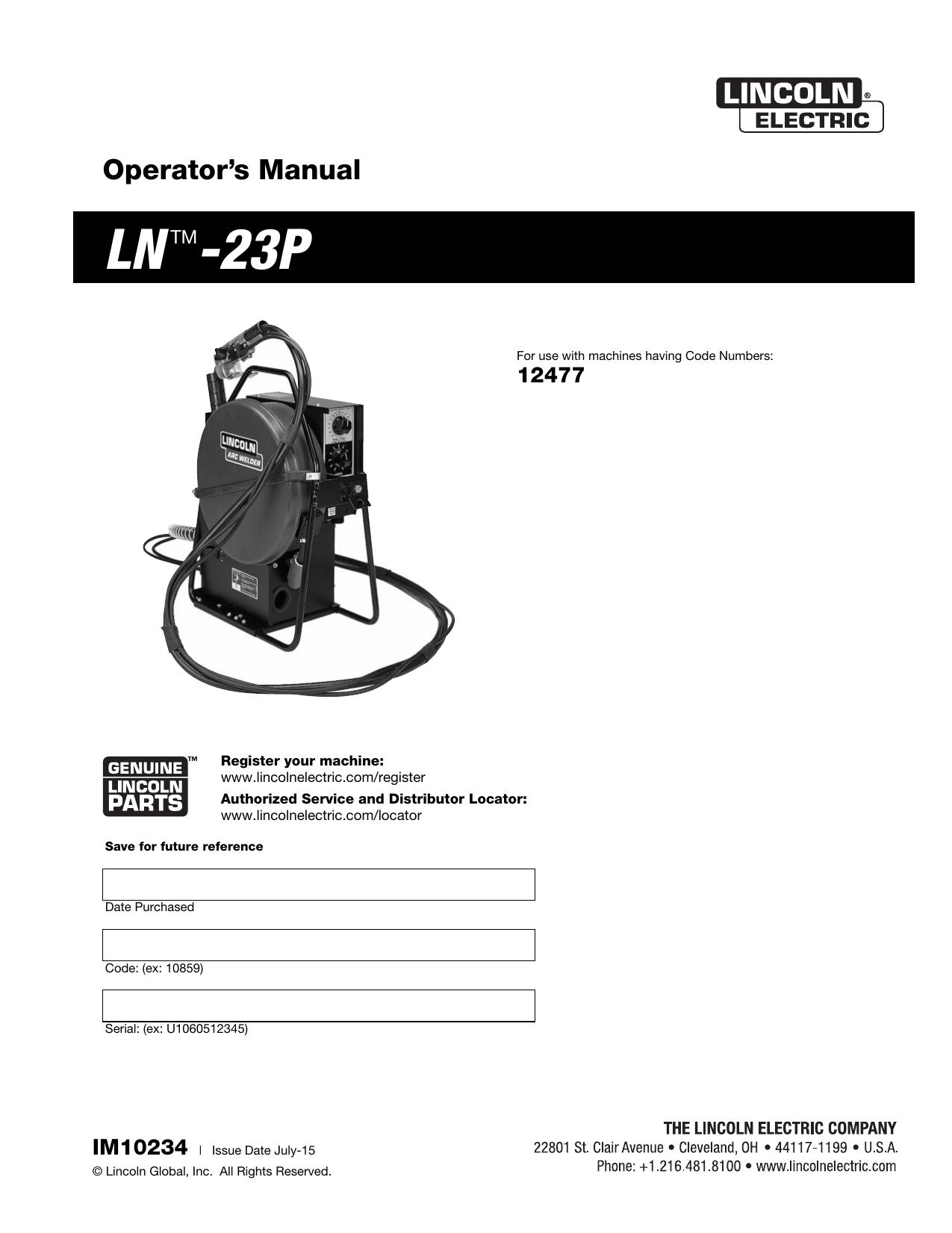 lincoln 305g wiring diagram lntm 23p lincoln electric manualzz  lntm 23p lincoln electric manualzz