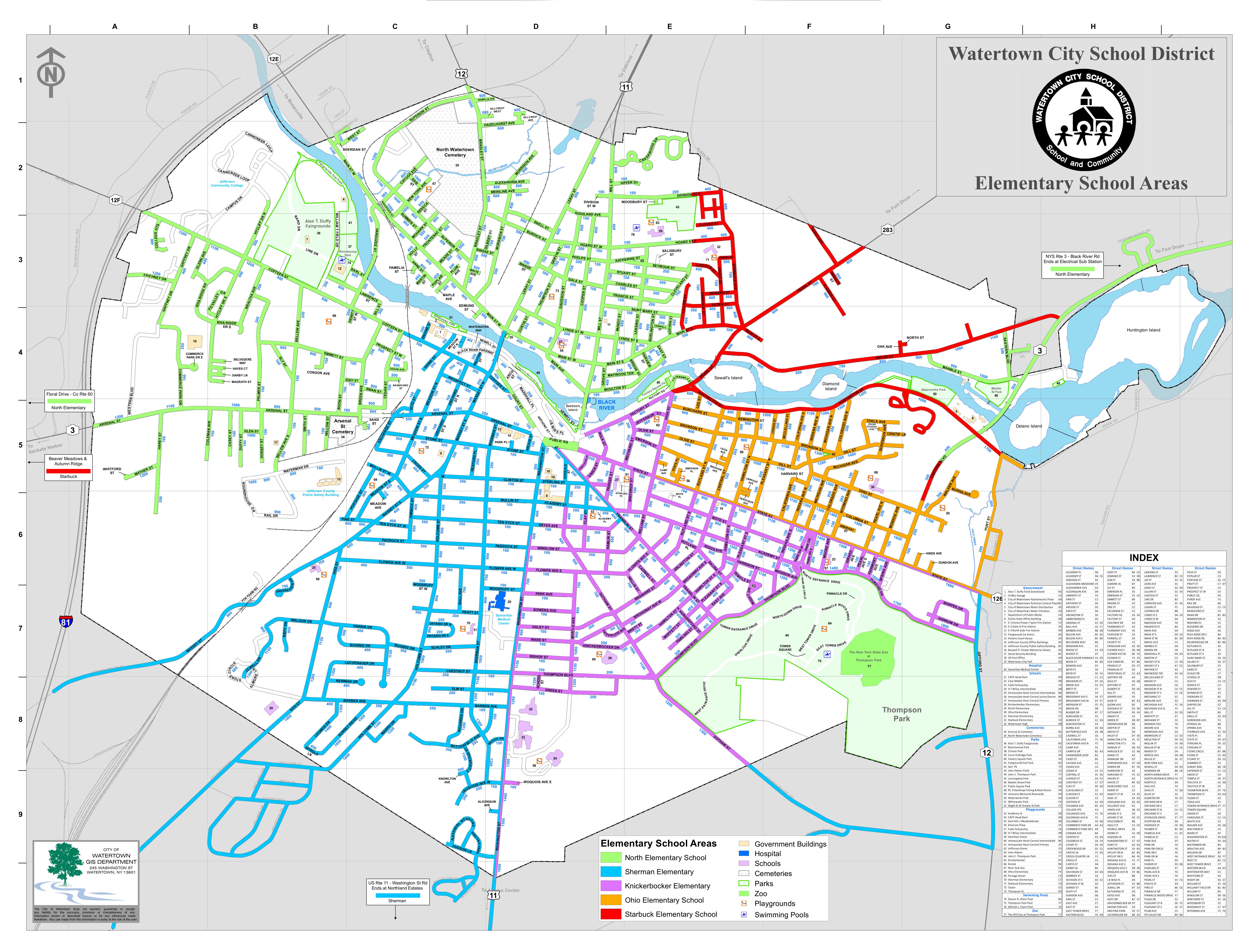 map - Watertown City School District   manualzz.com
